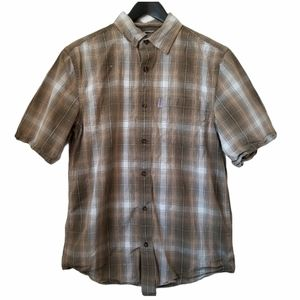 Carhartt mens relaxed fit button front plaid shirt